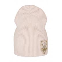 """Шапка демисезонная бледно-розового цвета для девочек """"Сан-Ремо"""""""