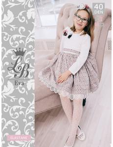 """Колготки нарядные белого цвета для девочек """"EVA"""""""