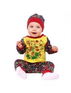 """Комплект для малышей (джемпер, штаны и шапка) """"Ягодная роспись"""""""