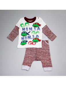 """Комплект для малышей бордового цвета """"Черепашки Ниндзя"""""""